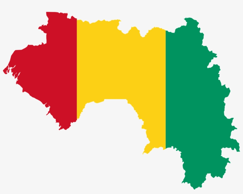 Guinea Flag And Map, transparent png #2088894