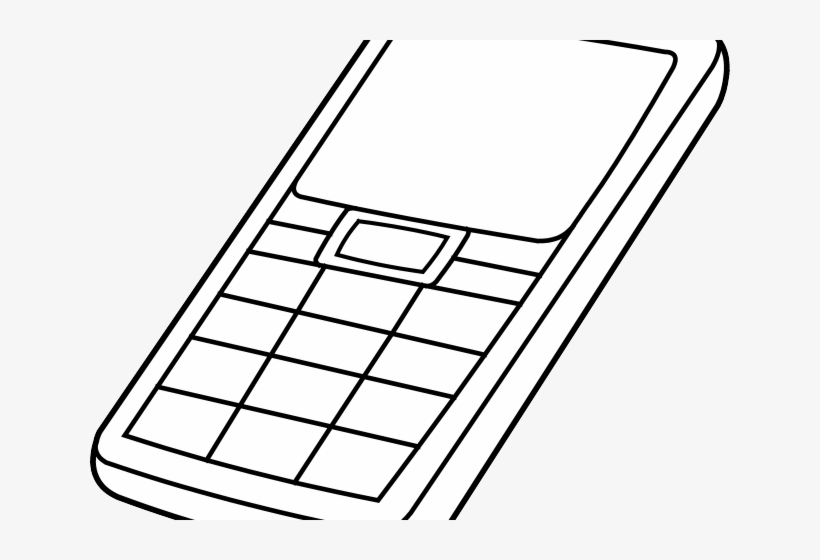 Ipad Clipart Iphone Outline - Cell Phone Colouring Page, transparent png #2089093