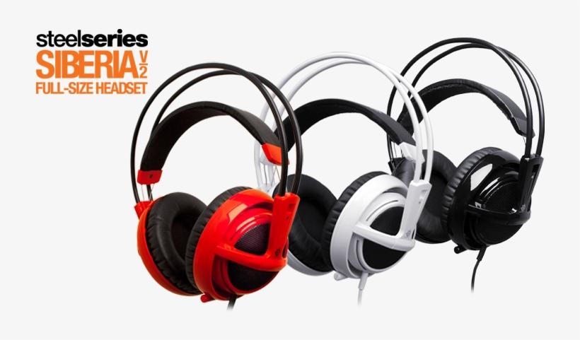 Steelseries Siberia V2 - Steelseries Siberia V2 Full-size Full-size Headset, transparent png #2090414