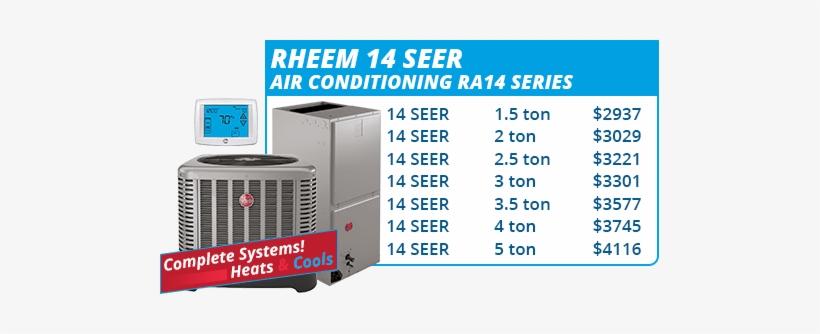 Rheem 14 Seer Units 4 Ton 15 Seer Rheem Ruud Heat Pump System