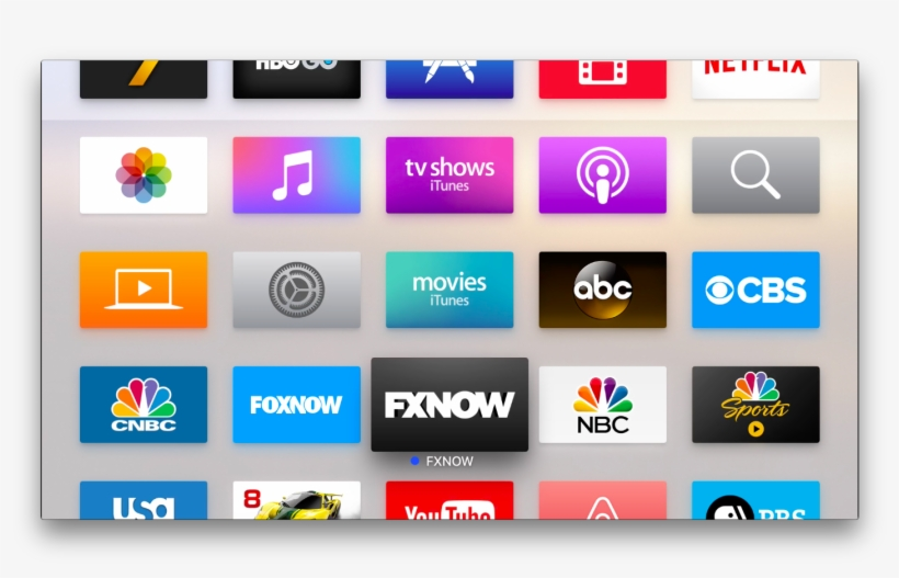 A View Of The Apple Tv Home Screen With Apps - 20th Century Fox, transparent png #2095047