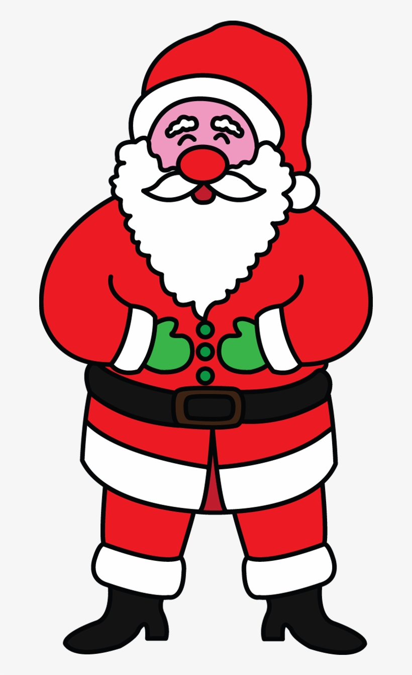 Clip Library Library How To Draw Celebrities Ideas - Christmas Santa Claus Drawing, transparent png #2098327