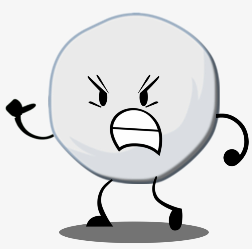 Snowball With Shadow - Bfdi Characters Snowball - Free Transparent