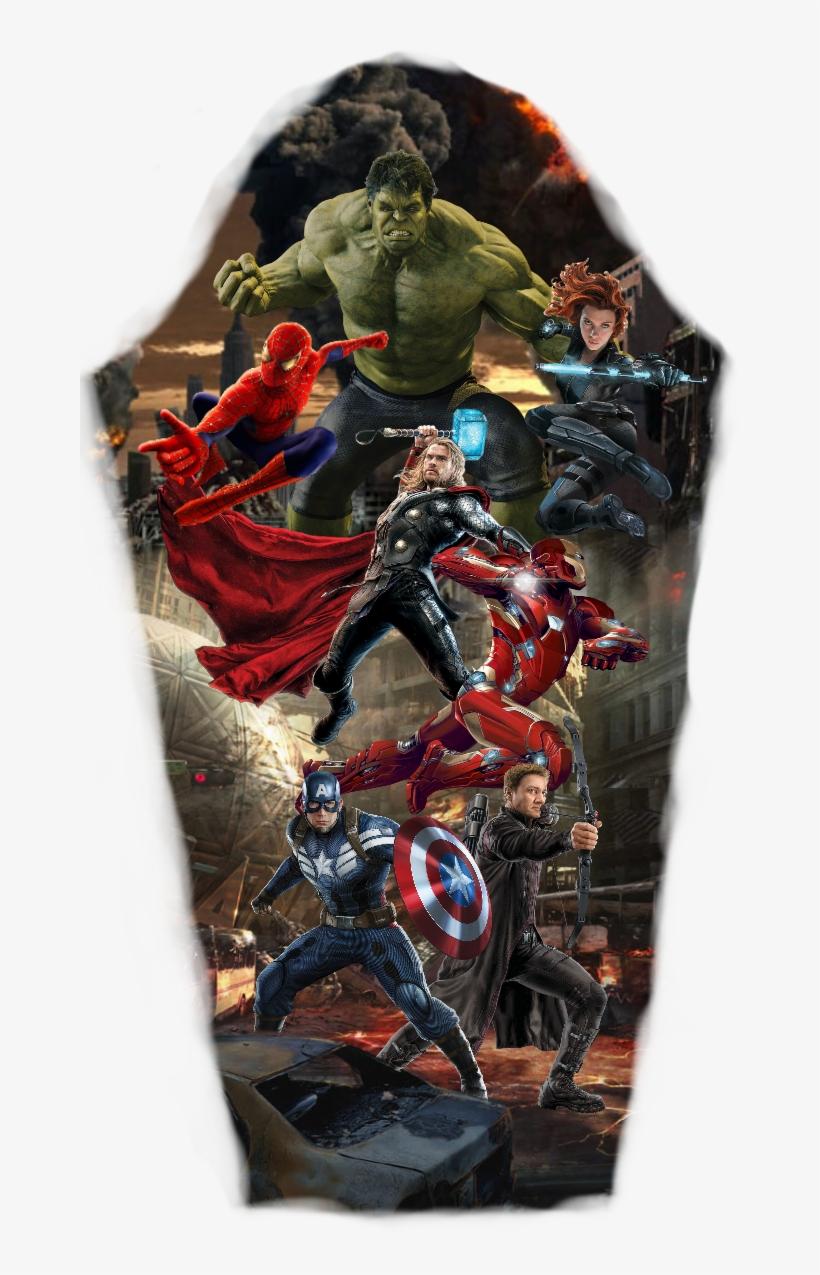 Avengers Sleeve Tattoo Marvel Tattoo Sleeve, Avengers - Avengers Sleeve Tattoo Designs, transparent png #210801