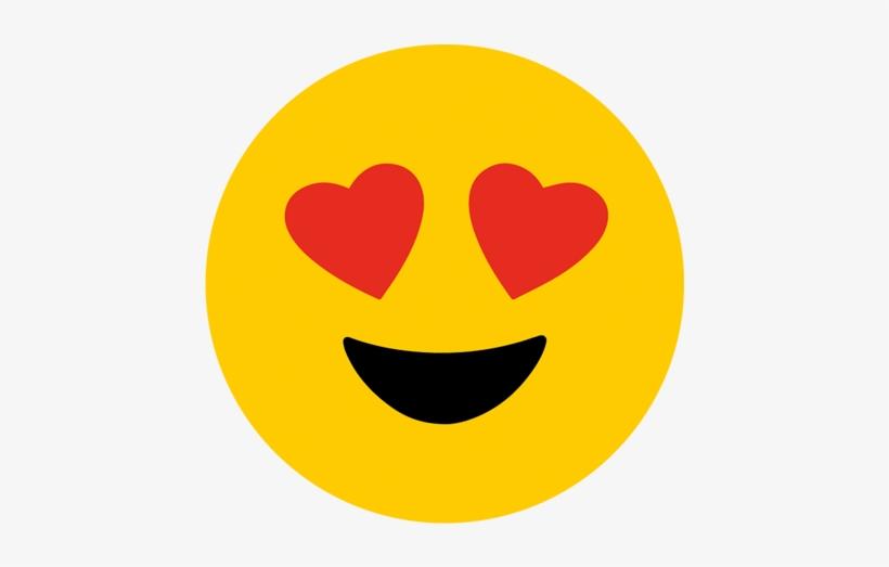 Emoji Heart Eyes Png Vector Royalty Free Library - Heart Eyes Emoji, transparent png #211735