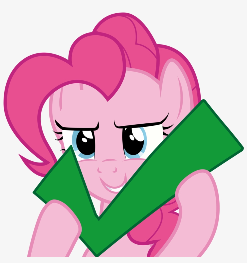 Pinkie Pie Checkmark - Pinkie Pie Approves, transparent png #212887