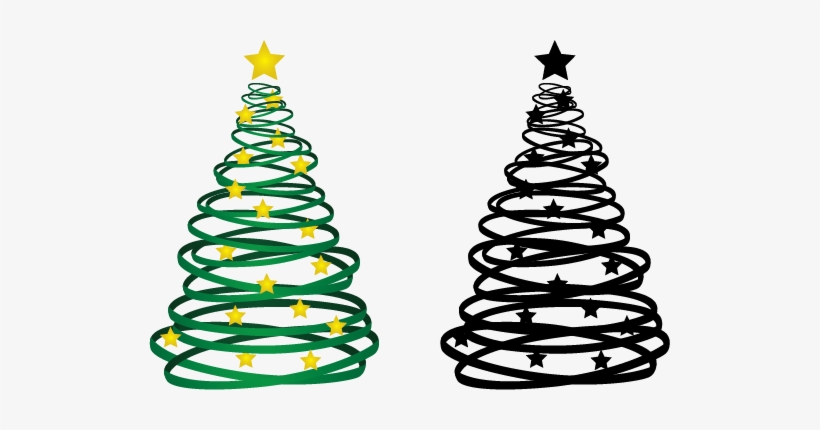 Ribbon Christmas Ornaments Png Free Library - Free Graphic Christmas Tree, transparent png #213342