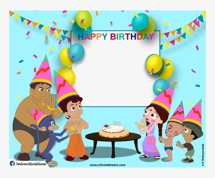 Chhota Bheem Photobooth - Happy Birthday Wishes Chota Bheem, transparent png #213889
