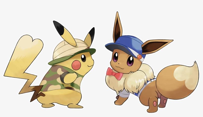 Pikachu Eevee - Pokemon Let's Go Eevee, transparent png #214199