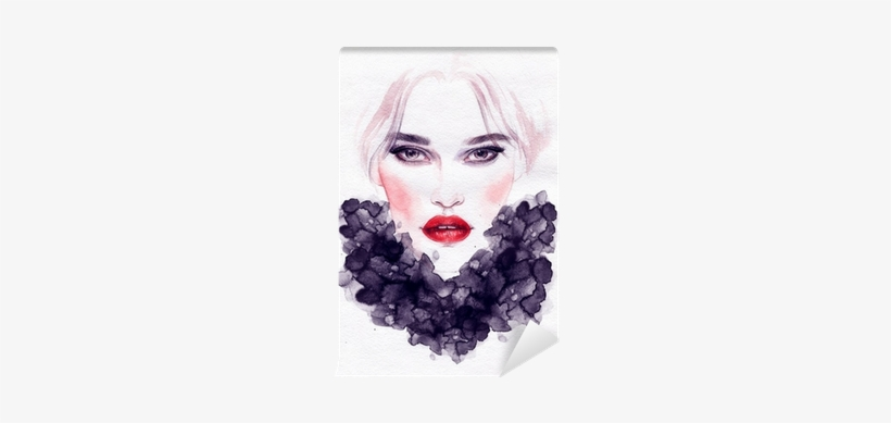 Beautiful Woman Face - Beautiful Woman In Watercolor, transparent png #214381