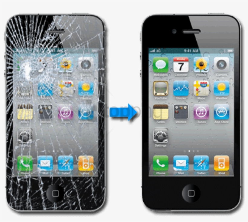 Popular Cell Phone Repairs - Mobile Phone Broken Screen, transparent png #214671