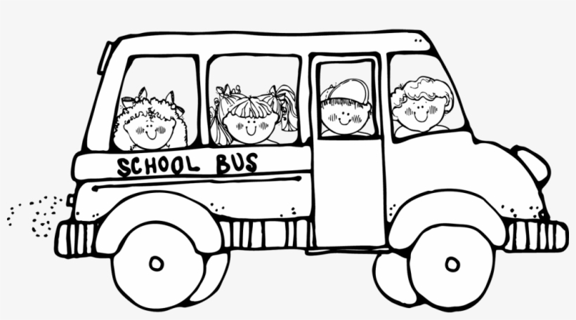 School Bus Safety Coloring Page - School Bus Clipart Black And White - Free  Transparent PNG Download - PNGkey