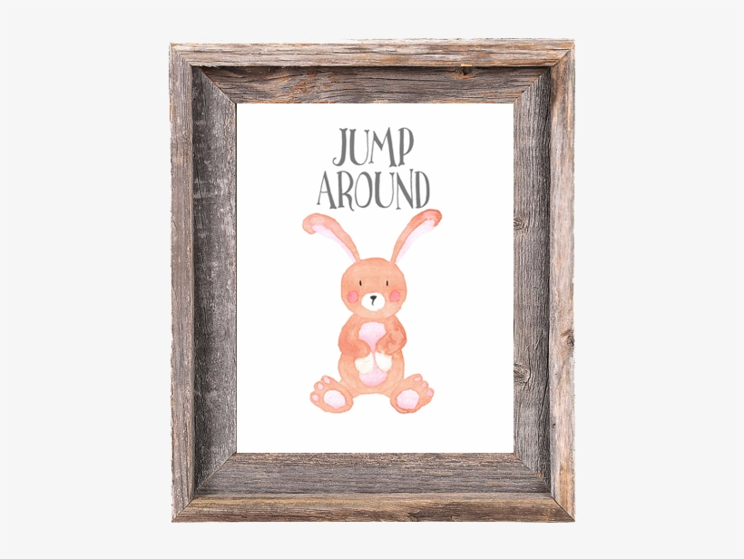 Bunny Jump Around - 8x10 Picture Frames -signature Barnwood Reclaimed Wood, transparent png #215498
