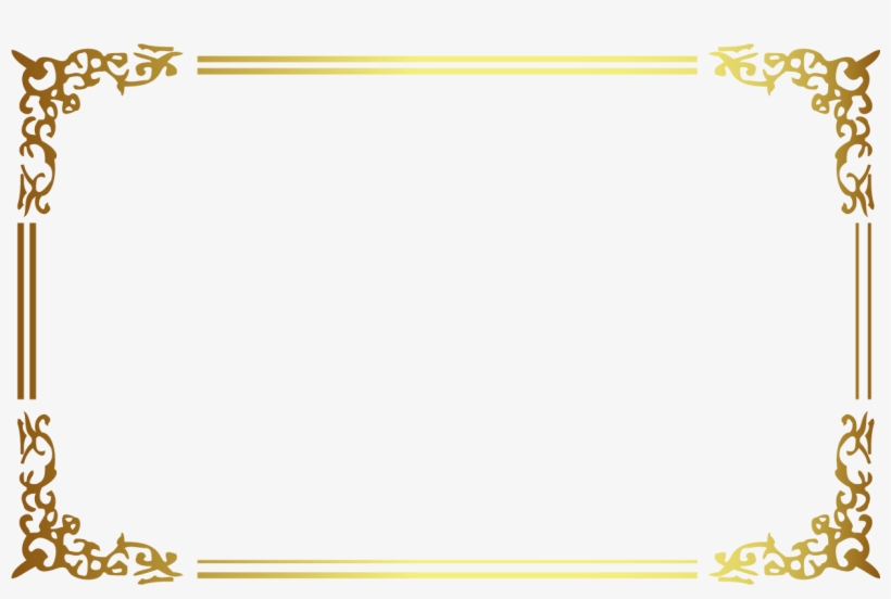 21120e75140 Golden Frame Png - Free Transparent PNG Download - PNGkey