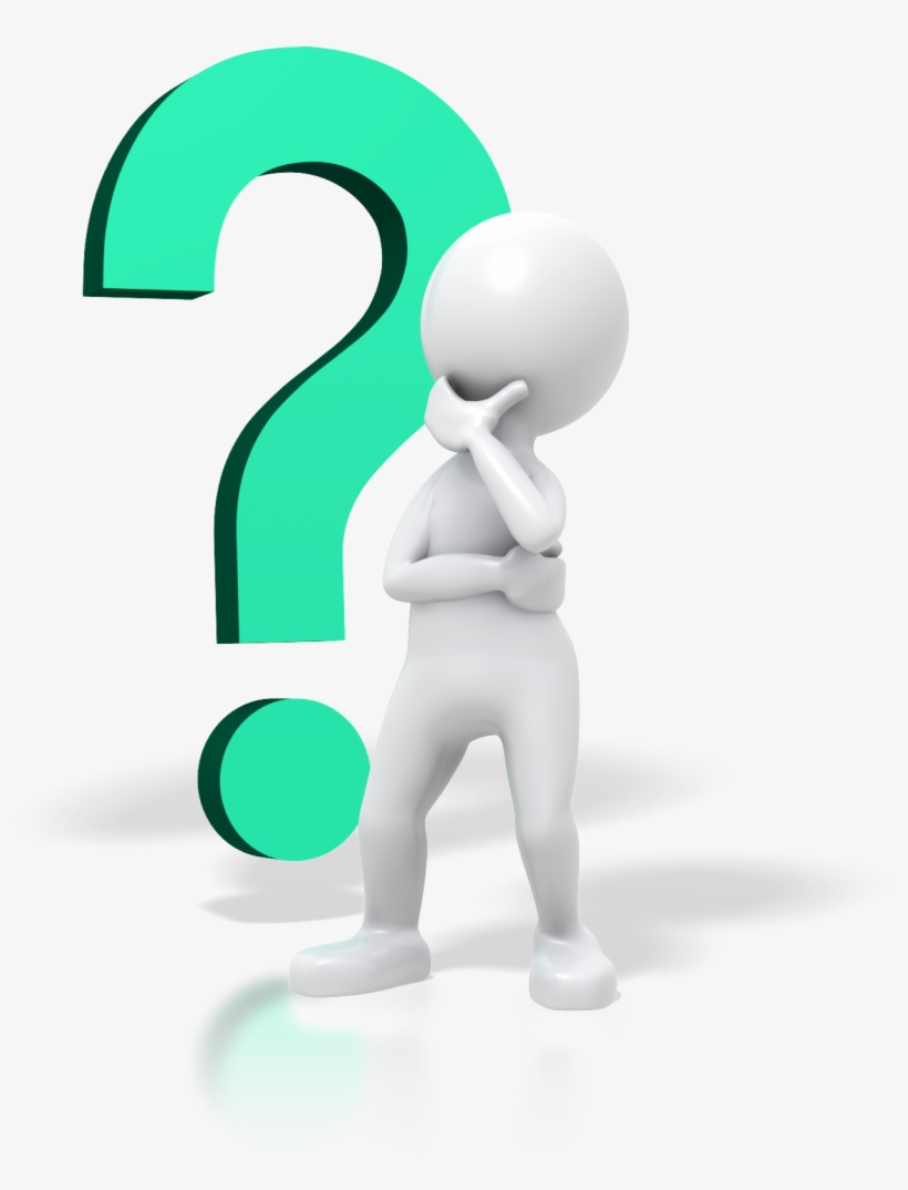 Question mark thinking. Person with free clipart