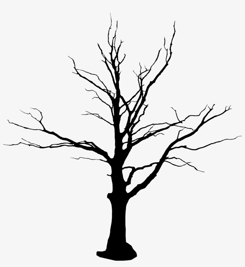 Gothic Vector Tree - Dead Tree Drawing Black And White, transparent png #218334