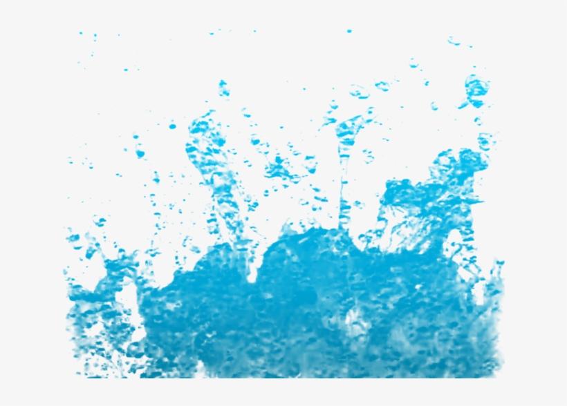 Blue Water Splash Clipart, Water Drop Vector Background