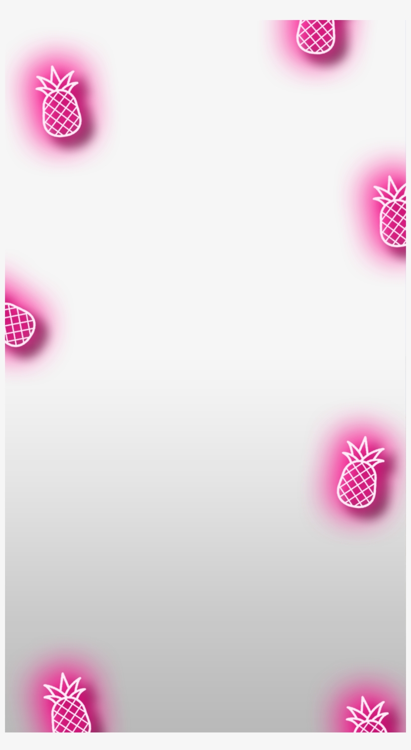 Neon Pineapple Bachelorette Snapchat Filter Transparent - Heart Filter Snapchat Transparent, transparent png #219702