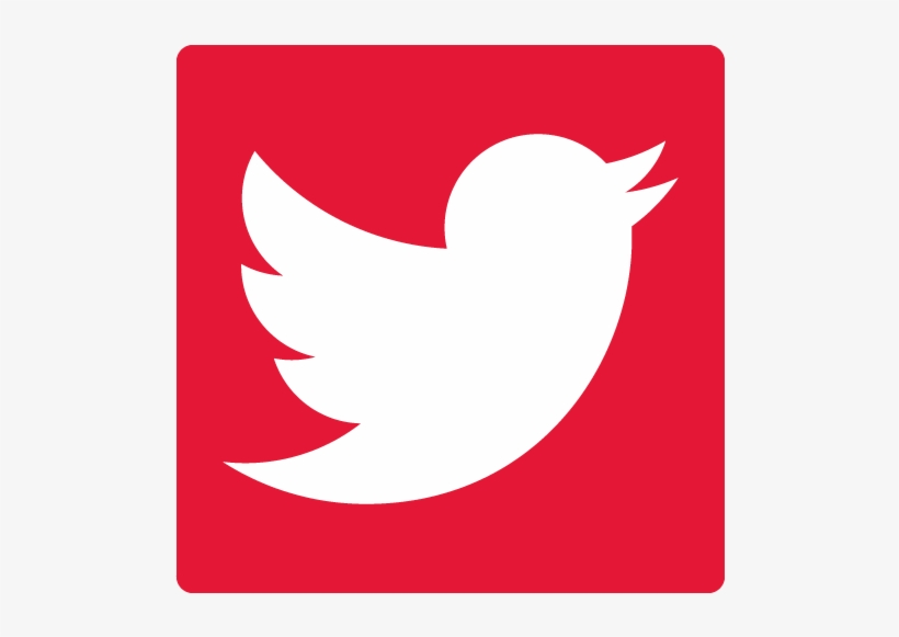 Red Twitter Logo Png Picture Transparent Library - Twitter Logo Vector Red, transparent png #219952