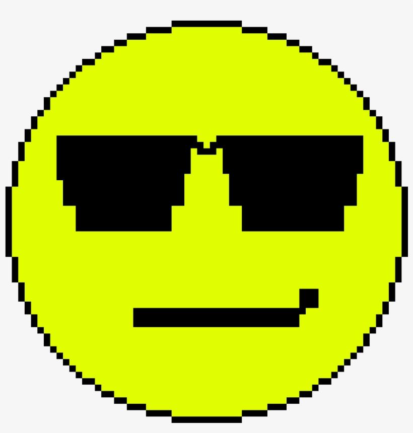 Cool Emoji - Circle Pixel Art, transparent png #2100603