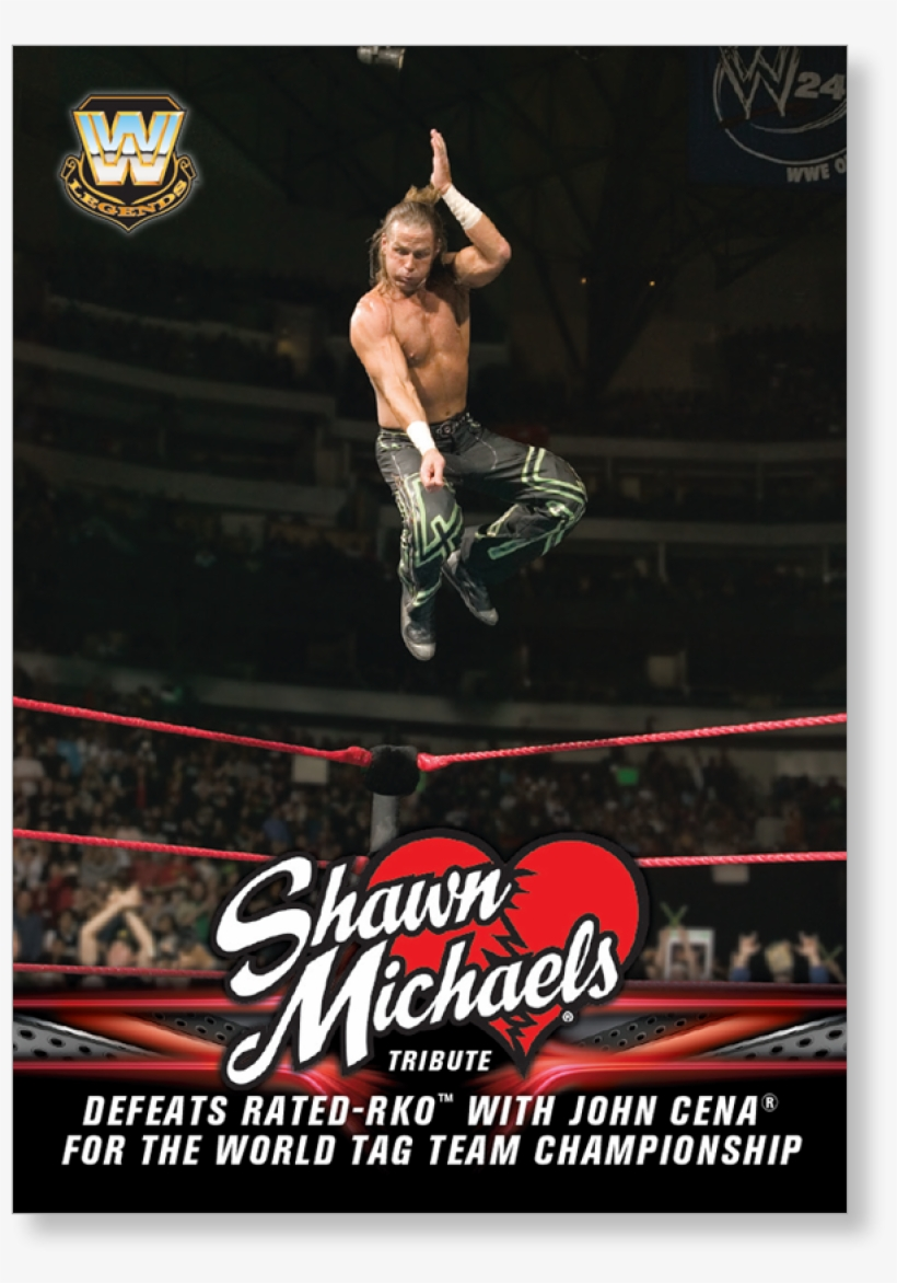 2018 Topps Wwe Heritage Defeats Rated-rko With John - Official Wwe Shawn Michaels Soft Gel Case, transparent png #2102638