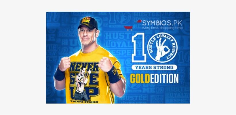 John Cena T-shirt - John Cena Never Gibe Up Yellow Tshirt, transparent png #2102667
