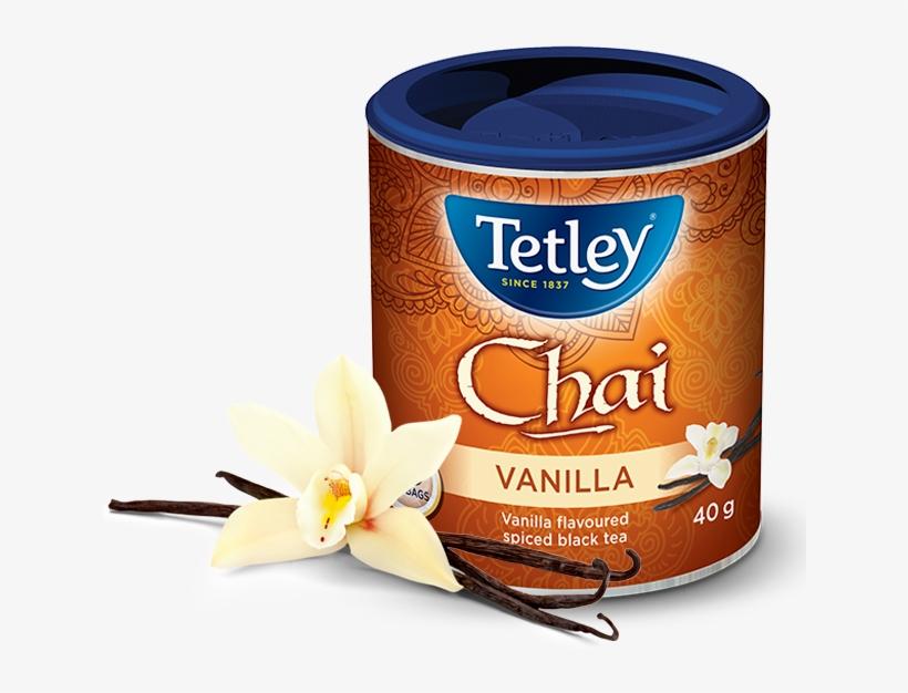 Tetley Vanilla Bean Chai - Tetley Chai Tea Dark Chocolate, transparent png #2104644