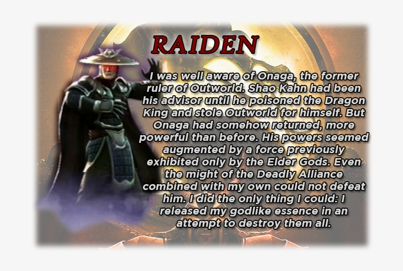 Raiden's Bio - Raiden Alternate Costume, transparent png #2106483
