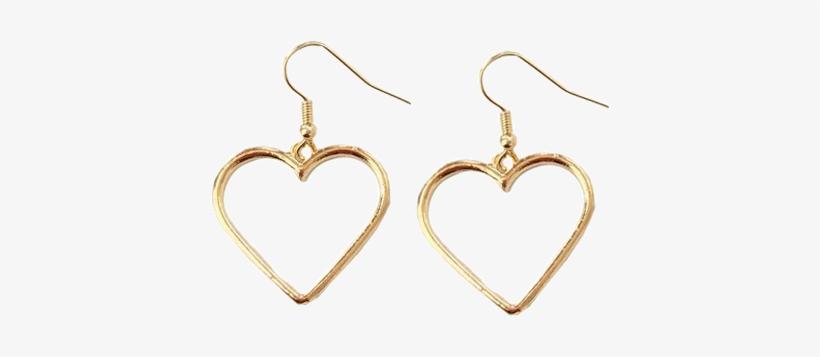 9af0499c92c68 Itgirl Shop Metallic Vintage Heart Earrings Aesthetic - Transparent Vintage  Aesthetic