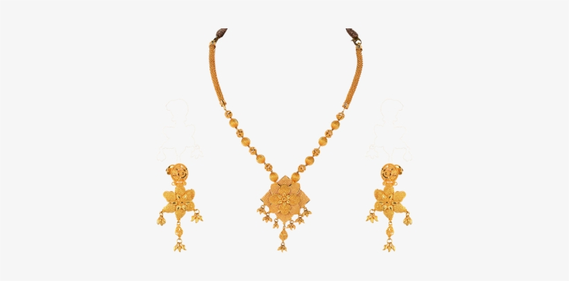 Orra Gold Set Necklace - Gold Necklace Set Design, transparent png #2114368