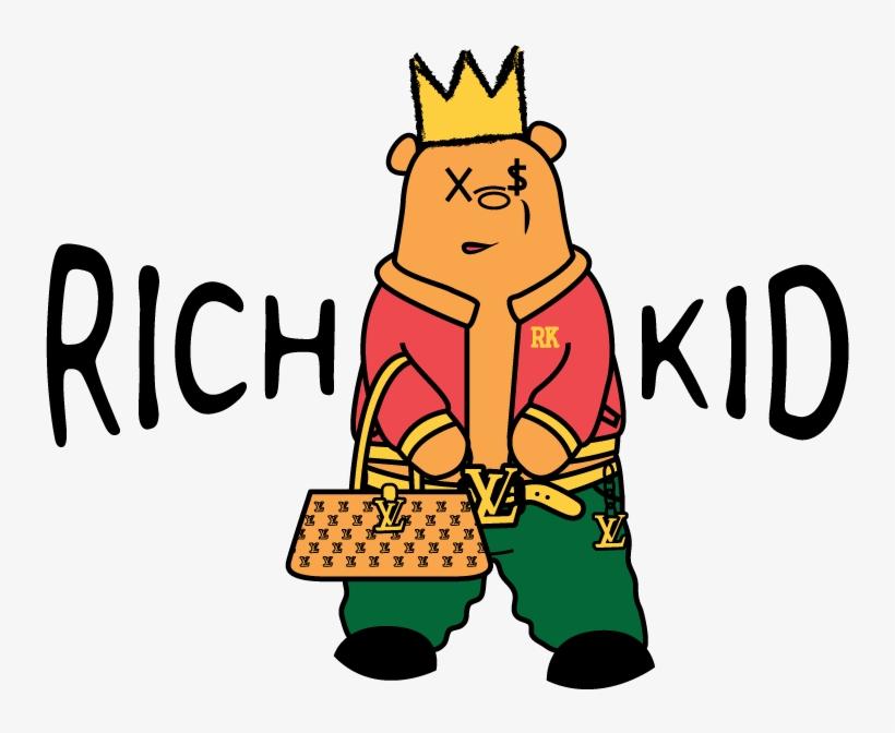 Masculine Upmarket Fashion T - Logo Rich Kid, transparent png #2115192