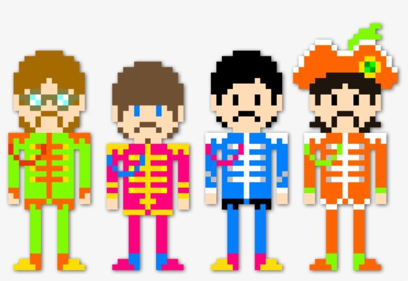 Sgt Pixel By Dillonquador D7a33np Beatles Minecraft Pixel