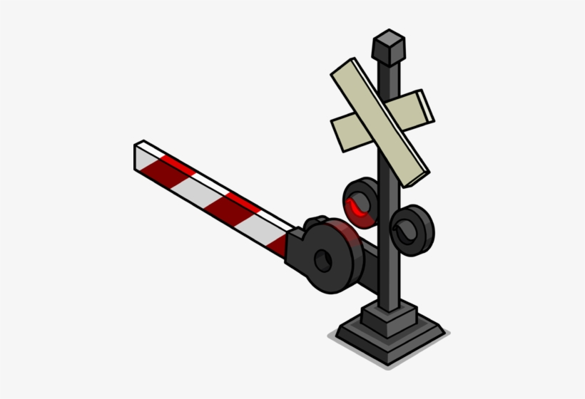 Railroad Crossing Sign Sprite 002 - Level Crossing - Free
