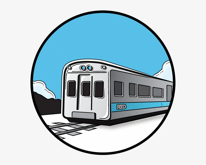 Railroad Clipart Train Ride - Rtd A Line Denver, transparent png #2126931