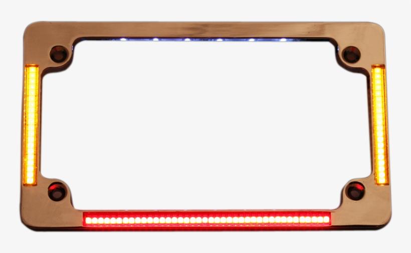 Victory License Plate Frame Chrome Turn Signals & Brake - Led Picture Frame Png, transparent png #2129093