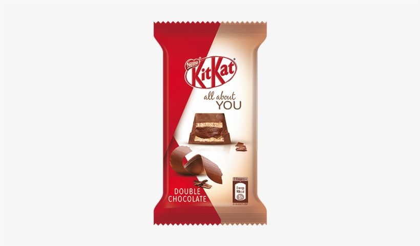 Kitkat All About You Double Chocolate 5 Finger - Kit Kat Chocolate, transparent png #2131777