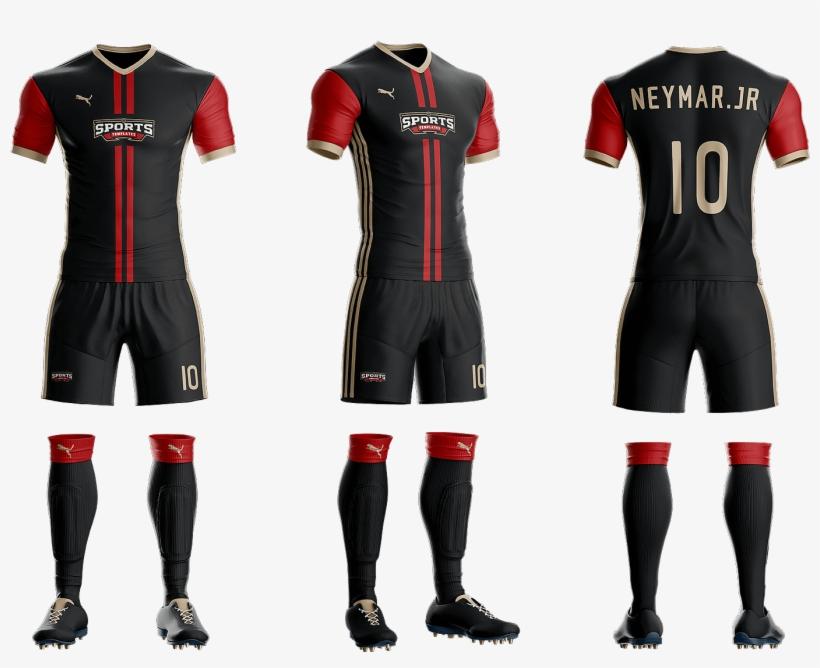 76641b030 Goal Soccer Kit Jersey Uniform Template Psd - Mockup Uniforme Futebol Psd