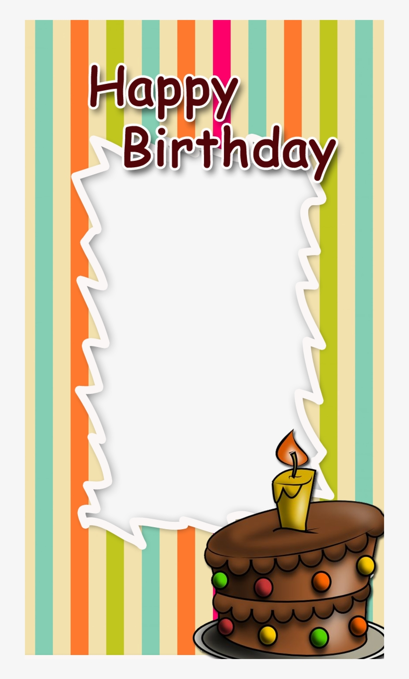 Birthday Frame With Cake Freeproducts Happy Birthday Frames