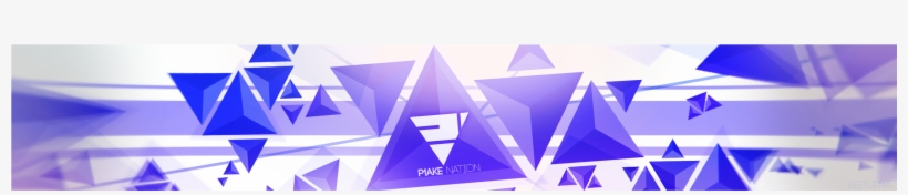 Transparent Youtube Banner Template - Triangle - Free