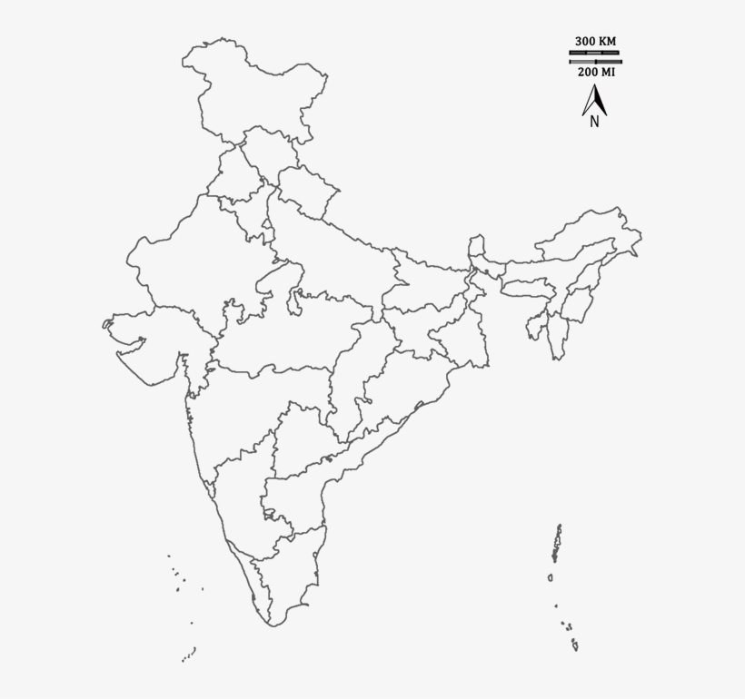 Image Of India Map India States Outline Map Free Transparent Png