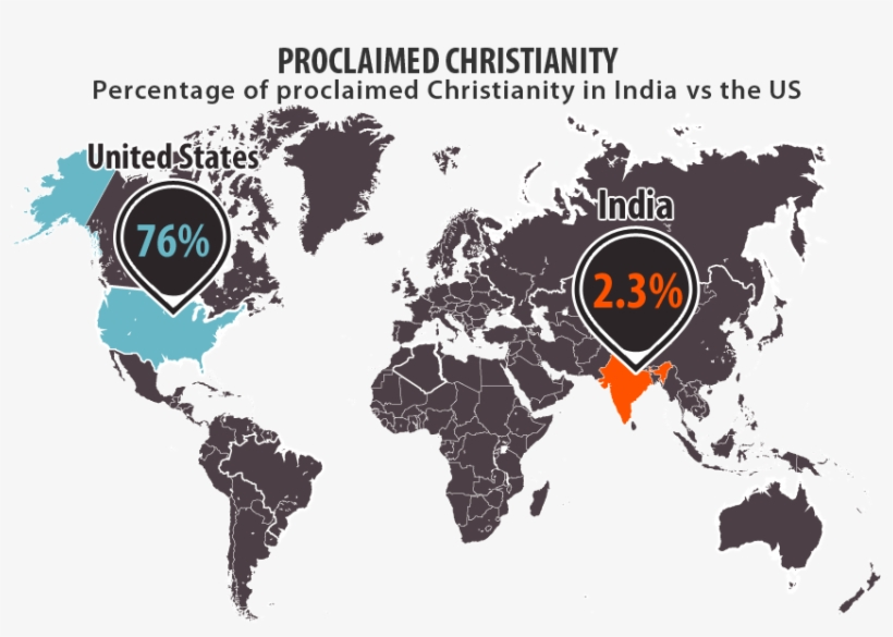 Christianity Map Infographic Micm 851×566 - Christians In United States Map, transparent png #2139470