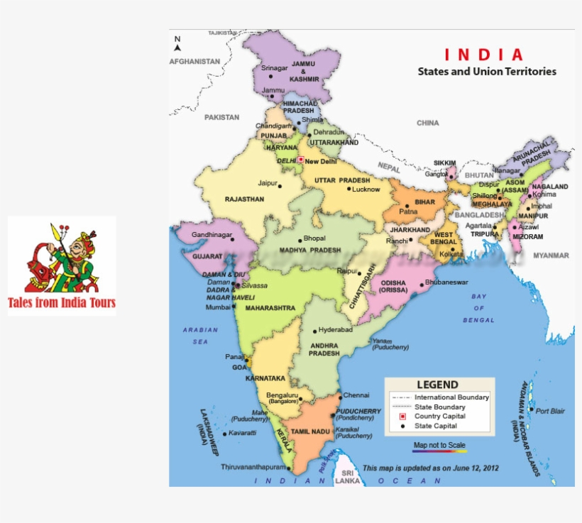Rajasthan Tour Full Size India Map Hd Free Transparent Png