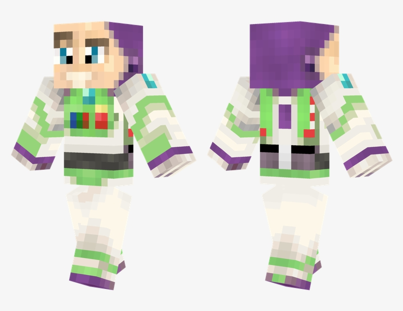 Buzz Lightyear - Woody Toy Story Minecraft Skin, transparent png #2140511