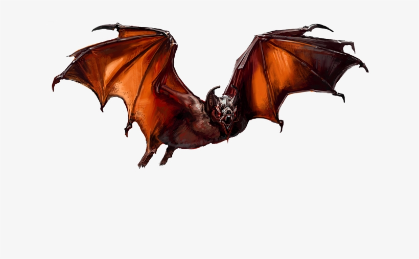 The Rats Are Aided By The Bats, That Fly Round The - Dungeons And Dragons Bats, transparent png #2143435