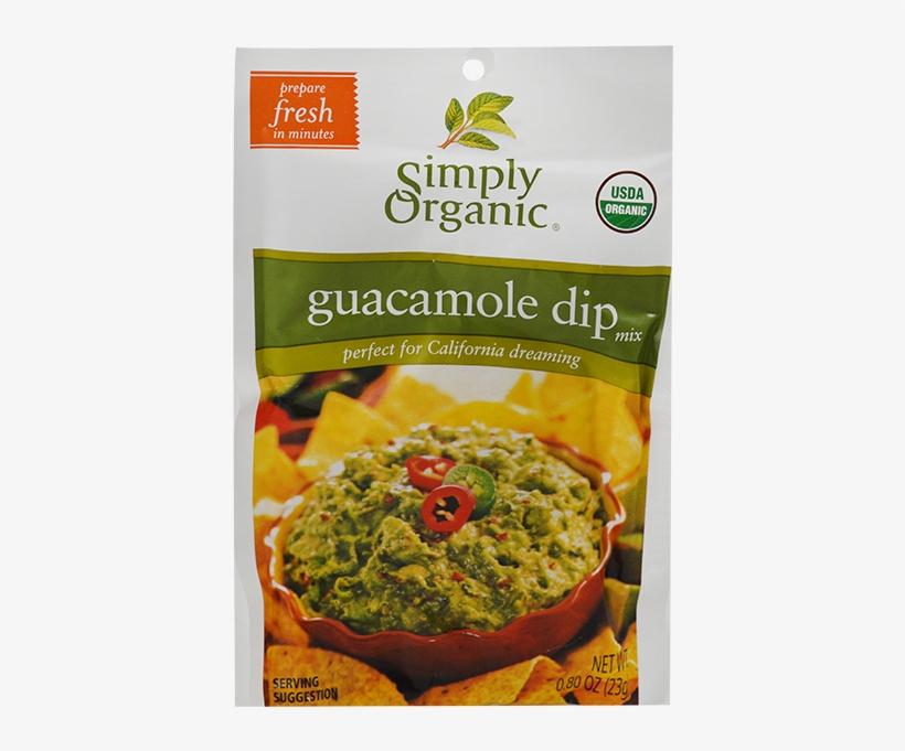 Simply Organic Guacamole Dip Mix Pack- - Simply Organic Guacamole Dip Mix - 0.8 Oz Packet, transparent png #2144591