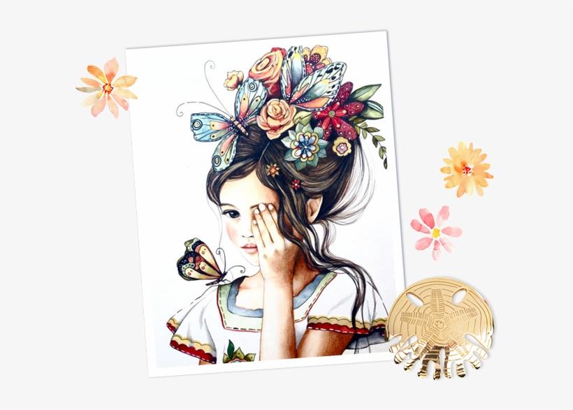 Was Established Back In 2013, While Leïa Khalaf, The - Art Flower Hair Girl, transparent png #2145051