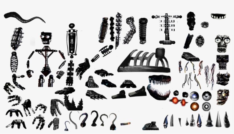 Endoskeleton Resources Pack By Bonitabunny-d93onwe - Fnaf Photoshop