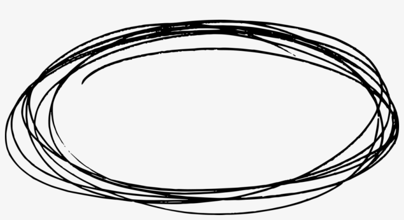 Scribble Circle Png - Oval Drawing Png, transparent png #2147786