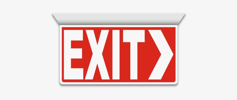 Exit 2-way Sign - Exit, Right Arrow, transparent png #2150211