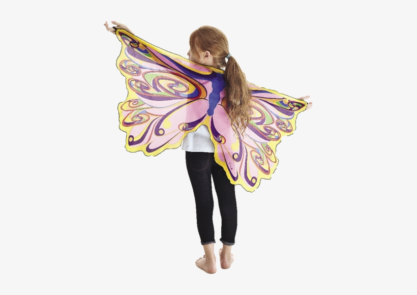 These Fanciful Rainbow Fairy Wings With Glitter Are - Douglas Dress-up Wings - Orange, transparent png #2150443